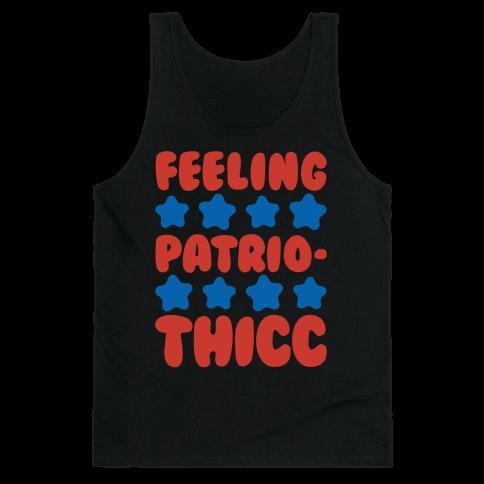 Feeling Patriothicc Parody White Print Tank Top