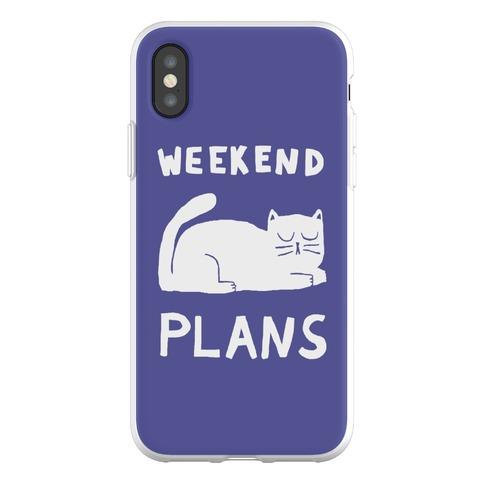 Weekend Plans Cat Phone Flexi-Case