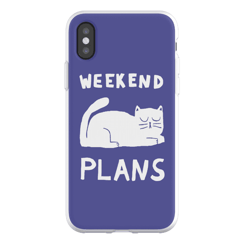 Weekend Plans Cat Phone Flexi-Case