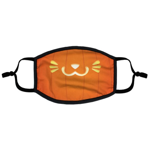Pumpkin Cat Mouth Flat Face Mask