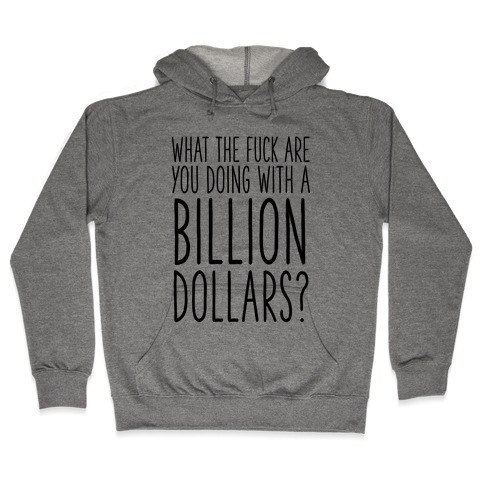 What the F*** Are You Doing With a Billion Dollars? Hooded Sweatshirt