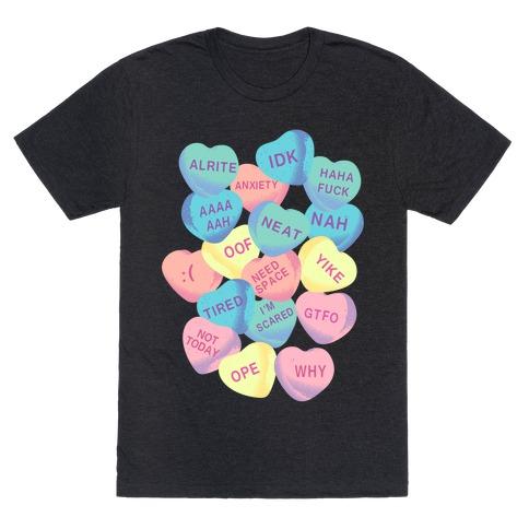 Awkward Candy Hearts T-Shirt