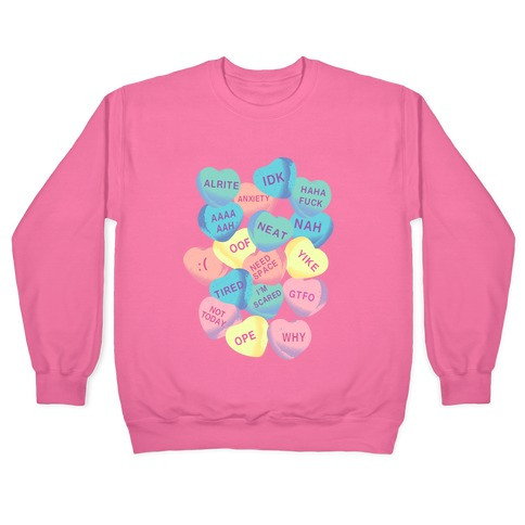 Awkward Candy Hearts Pullover