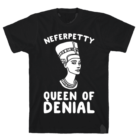Queen Neferpetty White Print Mens T-Shirt