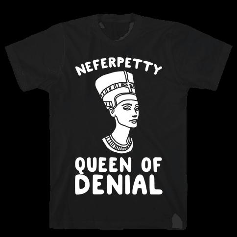 Queen Neferpetty White Print Mens T-Shirt