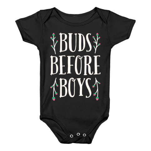 Buds Before Boys Baby Onesy