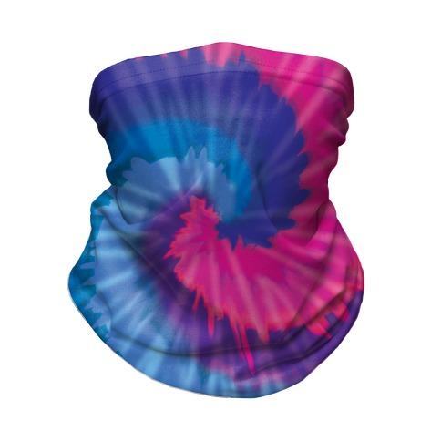 LGBTie dye: Bi Neck Gaiter