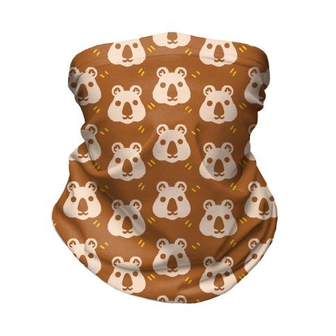 Cute Wombat Boho Pattern Neck Gaiter