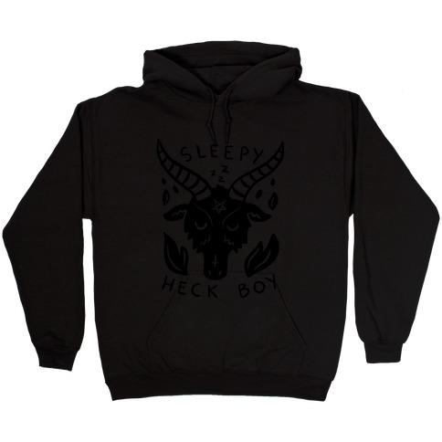 Sleepy Heck Boy Satan Hooded Sweatshirt