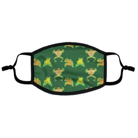 Buff Frog Pattern Flat Face Mask
