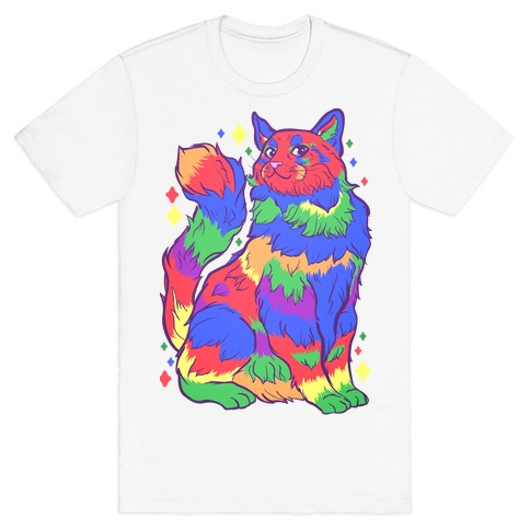 Gay Pride Cat Mens/Unisex T-Shirt