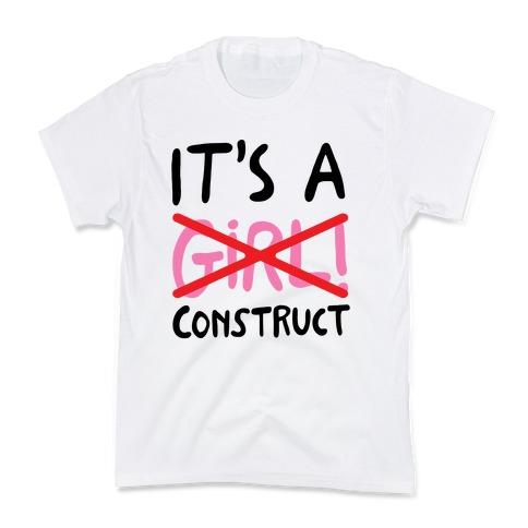 It's A Construct Girl Parody Kids T-Shirt