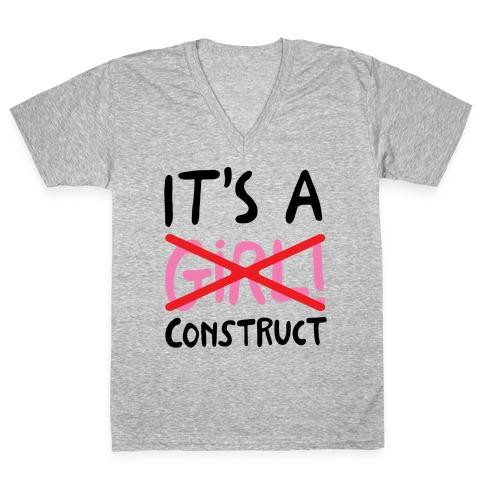 It's A Construct Girl Parody V-Neck Tee Shirt