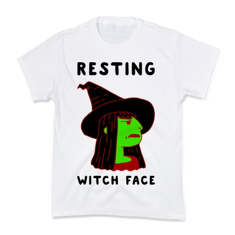 Resting Witch Face Kids T-Shirt