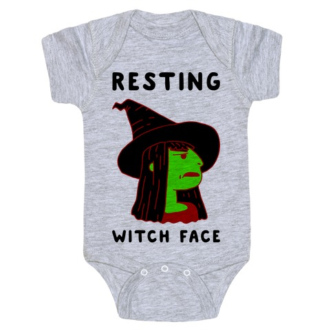Resting Witch Face Baby Onesy