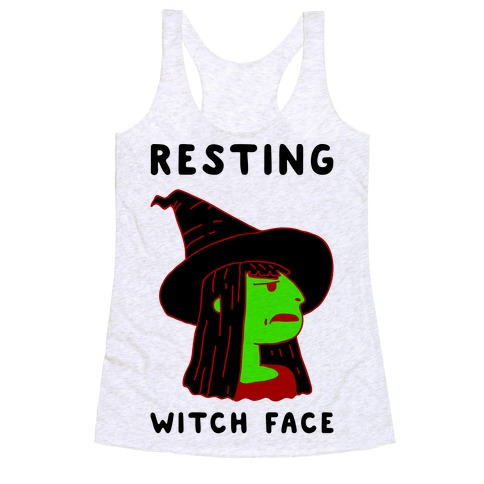 Resting Witch Face Racerback Tank Top