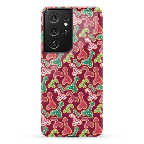 Penis Christmas Cookies Pattern Phone Case