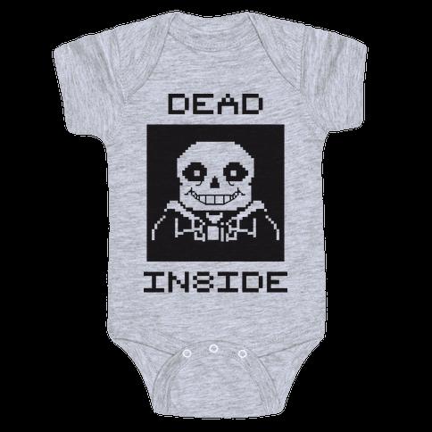 Dead Inside Sans Baby Onesy