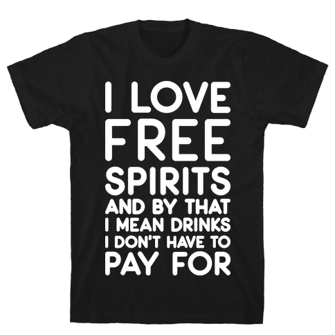 I Love Free Spirits Mens T-Shirt