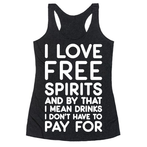 I Love Free Spirits Racerback Tank Top