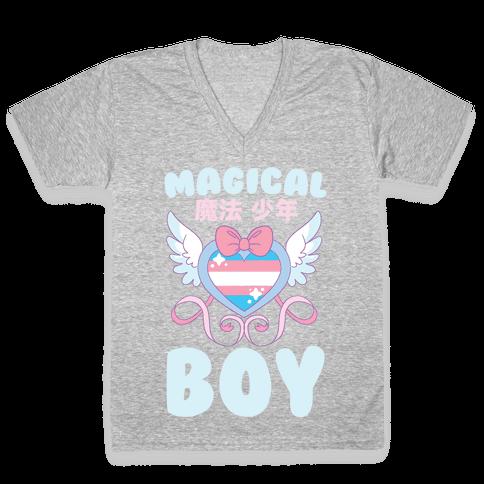Magical Boy - Trans Pride V-Neck Tee Shirt