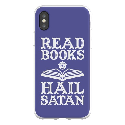 Read Books Hail Satan Phone Flexi-Case