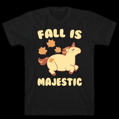 Fall is Majestic - Unicorn Mens T-Shirt