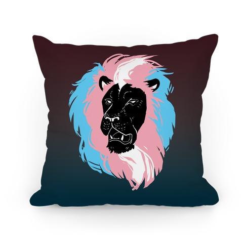 Trans Lion Pride Pillow