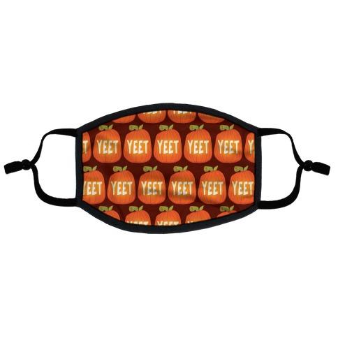 Yeet Pumpkin Flat Face Mask