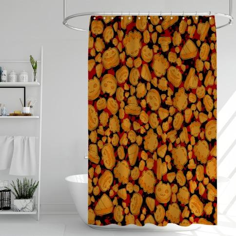 Halloween Nuggies Pattern Shower Curtain
