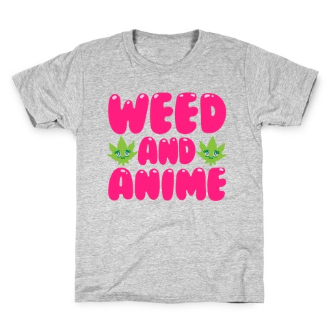 Weed And Anime Kids T-Shirt