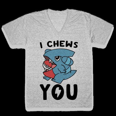I Chews You V-Neck Tee Shirt