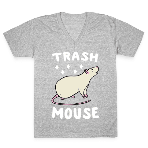 Trash Mouse V-Neck Tee Shirt
