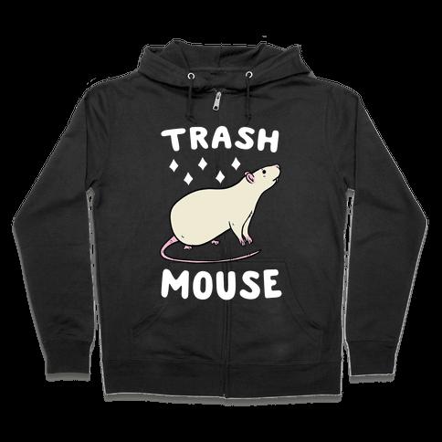 Trash Mouse Zip Hoodie