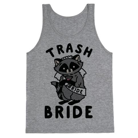 Trash Bride Raccoon Bachelorette Party Tank Top