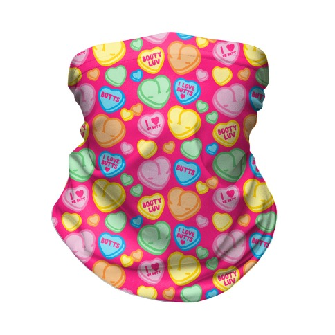 Candy Heart Butts Neck Gaiter