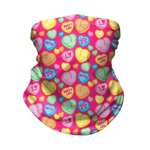 Candy Heart Butts Neck Gaiter