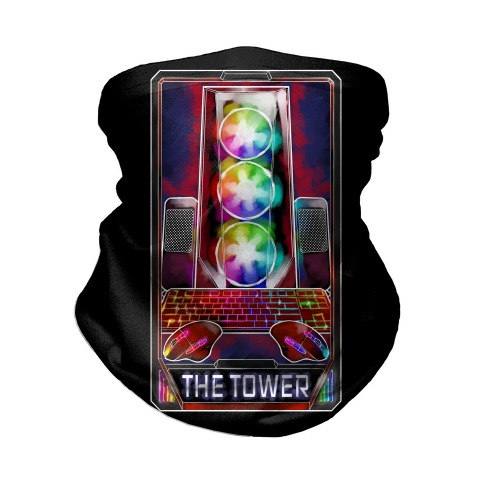 The Gaming Tower Tarot Card Neck Gaiter