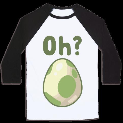 Oh? Egg Hatching Baseball Tee