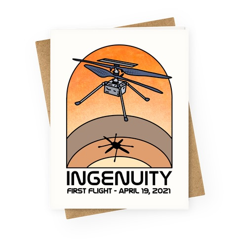 Ingenuity First Flight Date Greeting Card