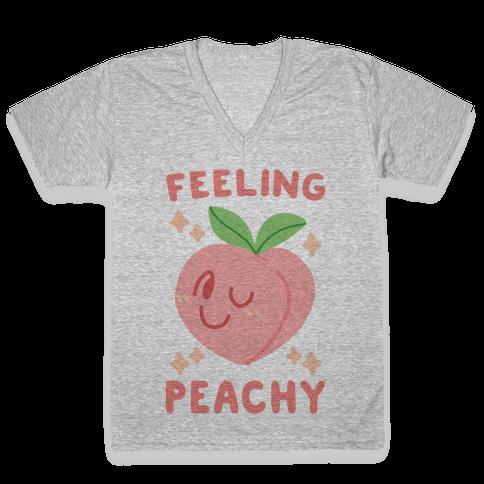 Feeling Peachy V-Neck Tee Shirt