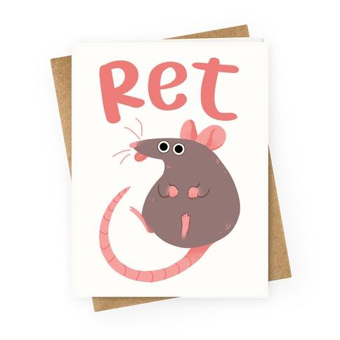 Ret Greeting Card