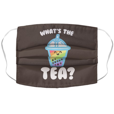 What's The Tea Bubble Tea Accordion Face Mask
