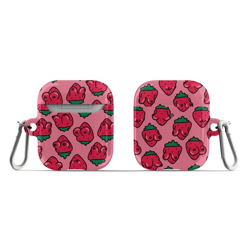 Strawboobies Pattern AirPod Case