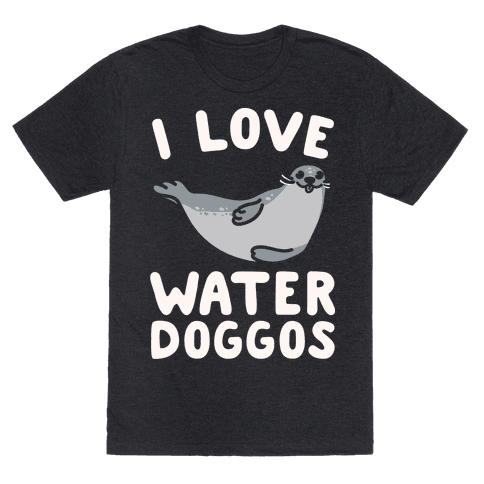 I Love Water Doggos White Print