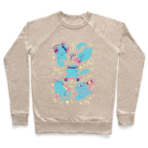90's Cats Pattern Pullover