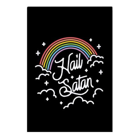 Hail Satan Rainbow Garden Flag