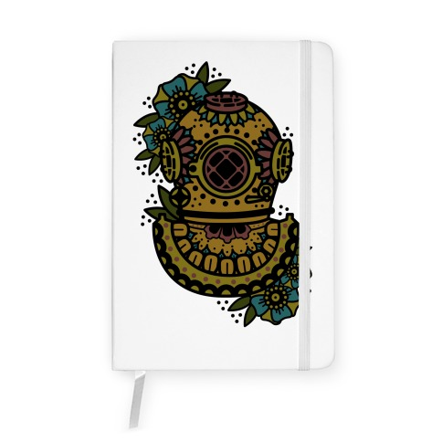 Floral Diving Helmet Notebook