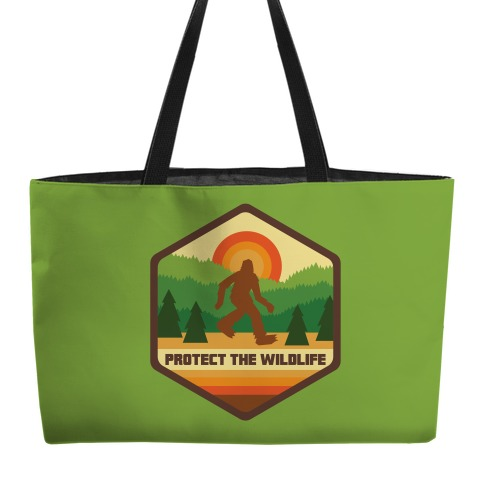 Protect The Wildlife (Bigfoot) Weekender Tote