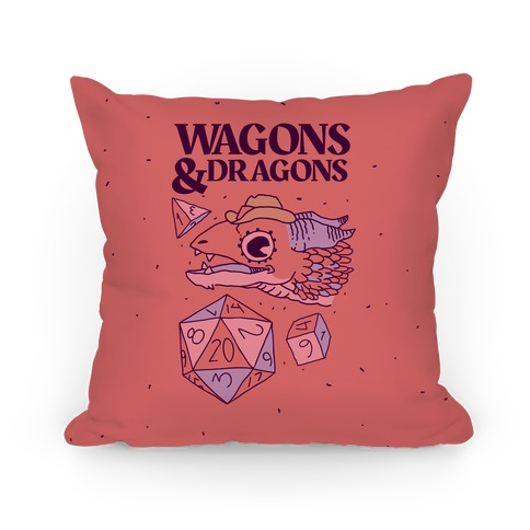 Wagons & Dragons Pillow